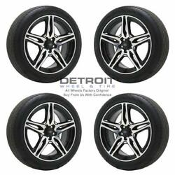 19 Ford Escape Machined Black Wheels Rims And Tires Oem Set 4 2017-2019 10199