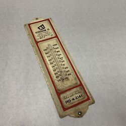 Vintage Advertising Metal Thermometer A-1 Refrigeration Works Los Angeles Ca 60s
