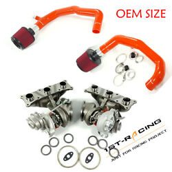 Td04l 6+6 17t Turbos+2 Inlets+dual Cone Air Filter Red Bmw N54 135i 335i 535i