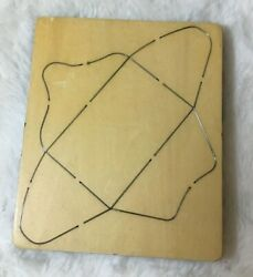 Wooden Die Stencil By Cross-cuts. 5x6x.5/8andrsquo. Envelope 4 Foldable