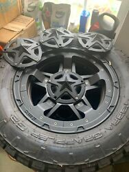 Set 4 Nitto Tires With 20 Xd Series Xd827 Rockstar 20x10 8x170 -24mm Ford