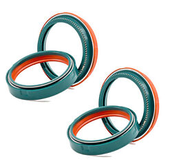 2 Sets - For Both Fork Legs - Skf Dual Compound Fork Seal Kit Wp 43 Mm