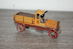 Antique Germany Tin Litho Penny Toy Pick Up Truck Distler Fischer Meier