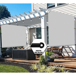 Waterproof Pergola Canopy Cover With Grommets Weight Rod For Patio Backyard-gray