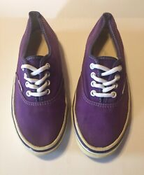 Vans Off The Wall Purple Low Top Sneaker Women#x27;s Sz 8.5 Made In The USA Vintage