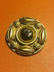 Marcy Feld Gold Plated Pearl Crystal Brooch