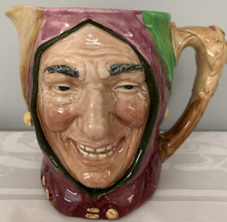 Royal Doulton Pitcher The Jester With Coa.