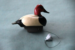 Jett Brunet Miniature Canvasback Mini Decoy Complete With Anchor
