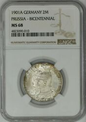 1901a Germany 2 Mark Prussia-bicentennial Ms68 Ngc 943603-35
