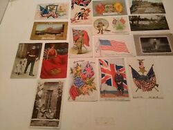 Ww1 And Earlier Era Military Postcards Lot Of 16 - Five Unused - Five Pre 1920