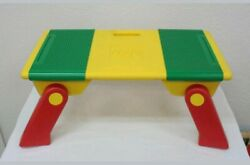 Vintage 1994 Lego Activity Lap Top Table With 2 Storage Bins And Folding Legs