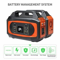444wh/120ah Solar Portable Power Station Generator Emergency Supply Outdoor Camp
