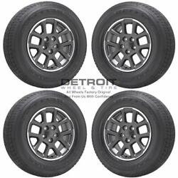 18 Jeep Gladiator Machined Grey Wheels Rims And Tires Oem Set 4 2019-2021 9241