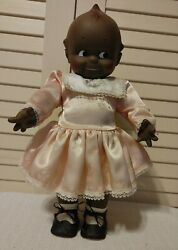 Very Vintage Cameo Kewpie Black Rubber Doll Squeaker Toy 1967 By Jesco -rare-