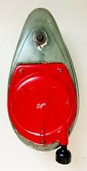 Vintage Elgin Outboard Motor Gas Tank And Starter Cord Housing + Wall Display