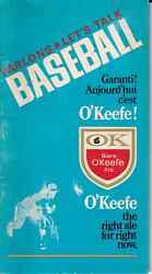 """1969 Expos """"let's Talk Baseball"""" Booklet From O'keefe"""