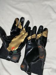 Miami Hurricanes Game Used Football Gloves