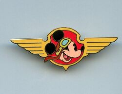 Disney Auctions Aviator Mickey Mickey Airplane Pilot Wings Le 100 Pin