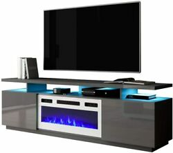 New Electric Fireplace Tv Stand Console Entertainment Center Elegant Minimalist