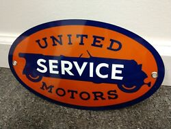 United Motors Gas Oil Gasoline Sign ... Free Ship On Any 8 Signs