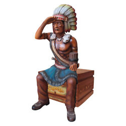 Tobacco Indian Cigar Store Statue Sitting Life Size