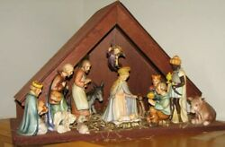 Hummel Goebel Nativity Set 13 Pcs With Wood Stable