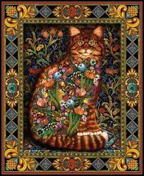 BRAND NEW THE #x27;TAPESTRY CAT#x27; LARGE COUNTED CROSS STITCH KIT
