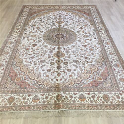 Yilong 6and039x9and039 Handmade Silk Area Rug Living Room White Floor Home Carpet L082c