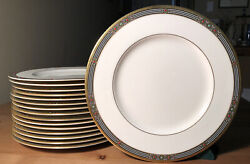 17 Luncheon/salad 9.5 Plates Discontinued Lenox Melisande Grand Tier Collection
