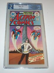Action Comics 445 - Dc 1975 Bronze Age Issue - Pgx Nm- 9.2 - Flash Cover Swipe