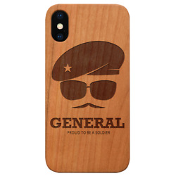 Army Rank General - Engraved Wooden Phone Case For Iphone And For Samsung - Le