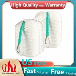 2x 1/2x300and039 Twisted 3 Strand Nylon Anchor Rope Marine Boat Dock Line W/thimble