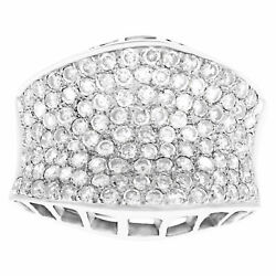 Exquisite Pave Diamond Ring In White Gold. 1.25 Carats In Pave Diamonds. Size 6