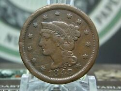 1848 Braided Hair Large Cent 1c 1 East Coast Coin And Collectables Inc.