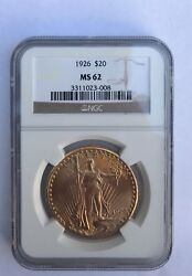 1926 20 Ngc Ms62 Gold Double Eagle Saint Gaudens Coin 3311023-008