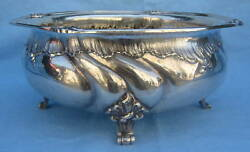 19th Century Large German 835 Sterling Silver Center Bowl Magnificent