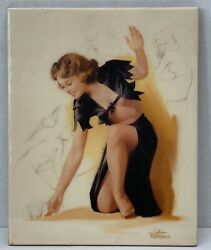 A Fine Kpm German Style Porcelain Plaque Painting Signed By '' Withers ''