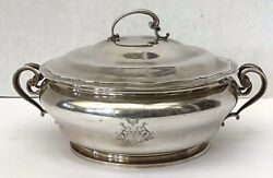 A Very Fine And Rare 19 Century French 950 Silver Tureen Covered Dish
