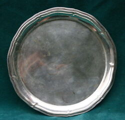 Antique Fine German 800 Sterling Silver Round Tray