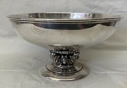 Art Deco American Circa 1930s Sterling Silver Large Bowl  Magnificent