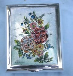 French 19 Century Enamel Silver Limoges Box Signed By A. Bonhomme  Magnificent
