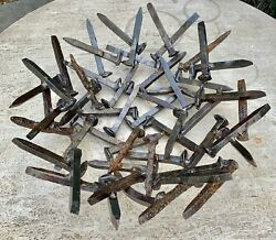 Magnificent Steel Railroad Spikes Large Centerpiece  Very Rare