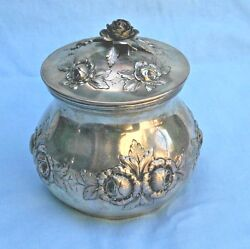 Very Fine 1840and039s Austrian Sterling Silver Repouse Tea Caddy