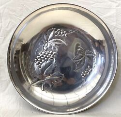 Wallace American Sterling Silver 10''1/2 Diameter Repousse Bowl