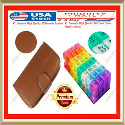 Pill Organizer Case Box Monthly Weekly 31 7 Day Medicine Container Dispenser New