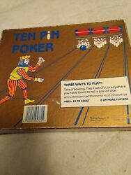Vintage Bowling Card Game Ten Pin Poker By Public Images 1987
