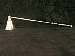 Vintage Silver Plate Colonial Style Candle Snuffer 11 1/2 Long