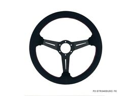 Phase 2 Competition Steering Wheel 340mm Deep Corn Suede