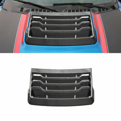 For Ford F-150 2015-2020 Real Carbon Fiber Hood Engine Protection Cap Cover 1pcs