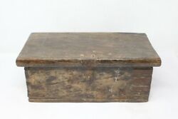 Antique Wooden Hand Crafted Tribal Merchant Trunk Money Box With Iron Strip Work